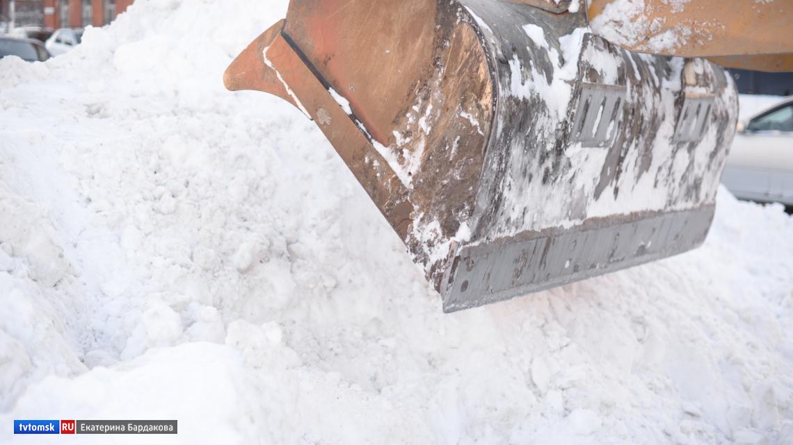 Более 3 тысяч тон снега вывезли с томских улиц