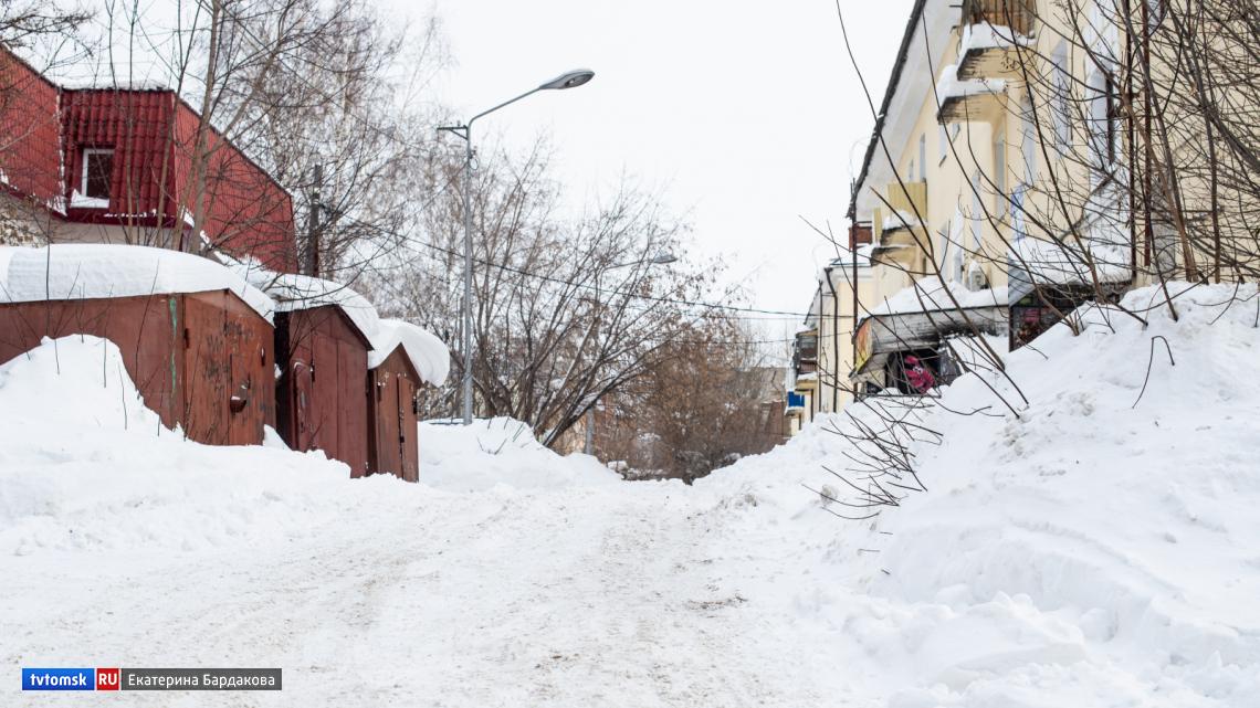 Томичи продолжают жаловаться на некачественную уборку снега